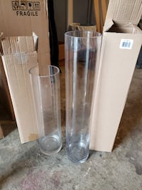 Clear Glass Cylinder Center Pieces Vaughan