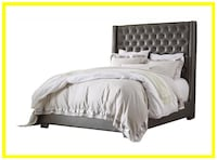 Coralayne Gray Queen Upholstered Bed Baltimore