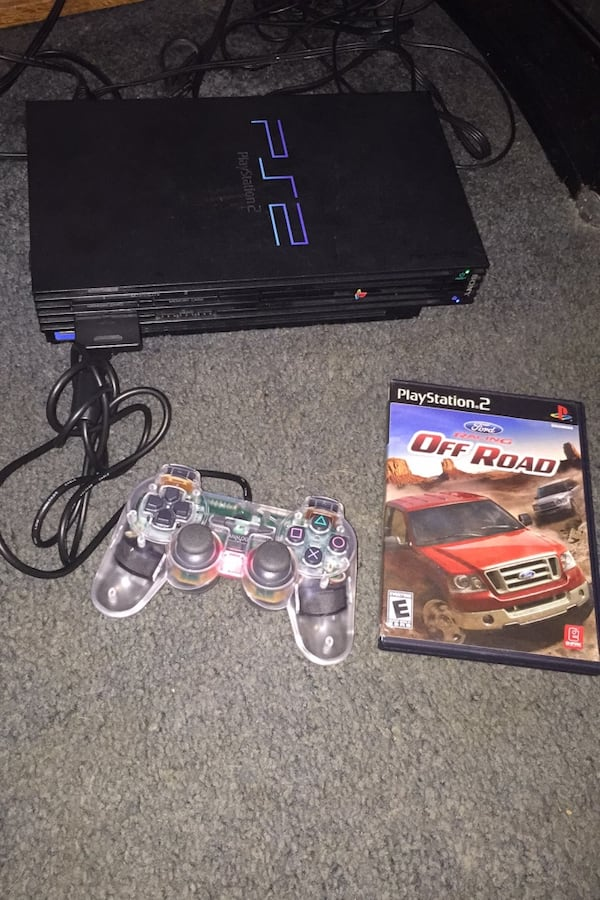 Playstation2 with game c7778938-833c-471c-a929-4856a7c9ed8b