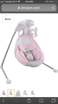 Baby's pink and white cradle n swing Riverview, 33569