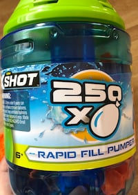 new Zuru X-SHOT RAPID BALLOON REFILL PUMPER Includes 250 Water Ballons For 6+ Ages(pick up only) Alexandria, 22310