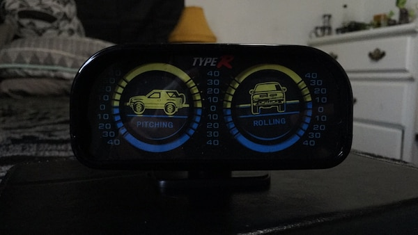 Pitch and roll meter/gauge 4x4 off-road