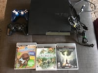 PS3 with two Wireless controllers and 3 games! Mississauga, L5L 2E9