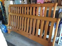 brown wooden bed headboard and footboard San Diego, 92126