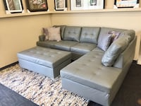 Brand New Grey Leather Sectional w/ Ottoman  Norfolk, 23502