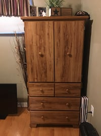 Tall wooden dresser with closet space and drawers  Newburgh, 12550