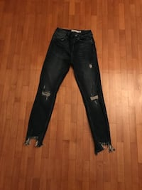 Jeans denim blu usati subdued