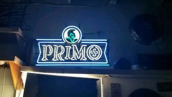 Primo neon beer sign