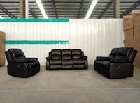 black leather sofa set with coffee table Toronto, M9V 4J9