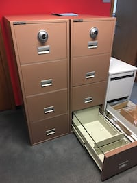 Filing cabinet safe They all work and lock devil lifetime warranty on them Manassas, 20111