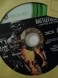 Xbox 360 Call of Duty Black Ops game disc