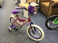 "New 16"" Barbie Bike w/ Training Wheels"