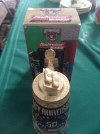 brown 50th anniversary budweiser container with box Clarion, 16214