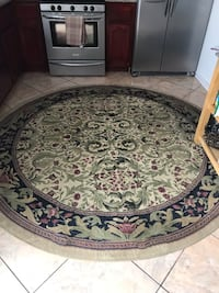 white and blue floral area rug Tracy, 95376
