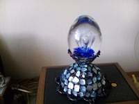 Glass hand blown on shell base/beading