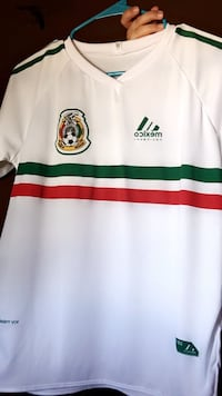white, green, and red Adidas polo shirt Las Cruces