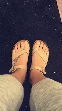 pair of brown leather sandals Michigan