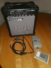 Practice guitar amp and delay/echo effects pedal