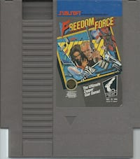 Freedom Force - Original NES Game tested and working game in good used condition ++++++++++++++++++++++++++++ Pick-up in Newmarket