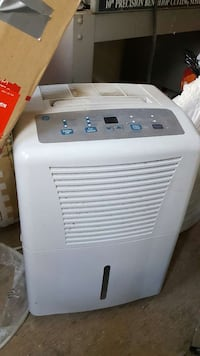 white and grey portable air conditioner