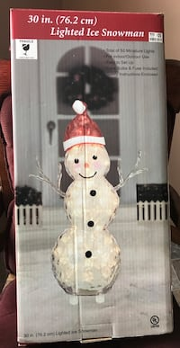 Lighted snowman