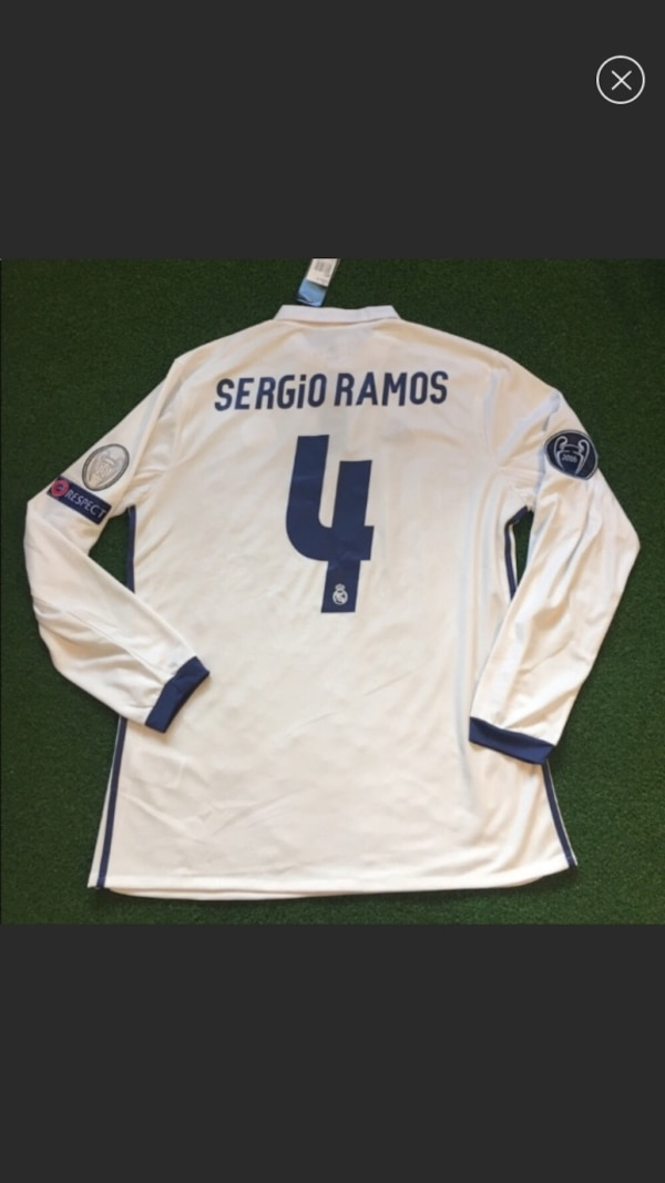 online store ea3d5 9714f Sergio Ramos Real Madrid soccer jersey