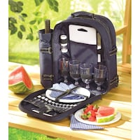 Brand New! Picnic Backpack, Place Setting For (4) Columbus