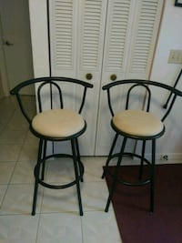 "Two swivel bar stool .great condition. 30"" from fl Palm Coast"