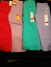 4 new winter girls pants size 4T $20 price firm Rockville
