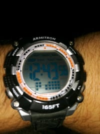 Armitron digital watch new leather strap Moorhead