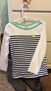 white and green striped long-sleeved shirt Daphne, 36526