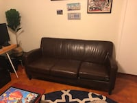 Brown leather couch  1952 mi