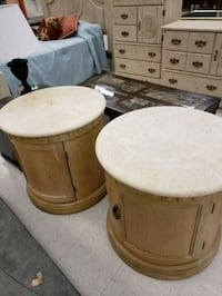 Two 100% Marbel top wood tables. Very heavy and st Middle River, 21220