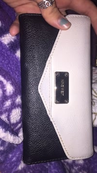 white and black leather wallet Groves, 77619
