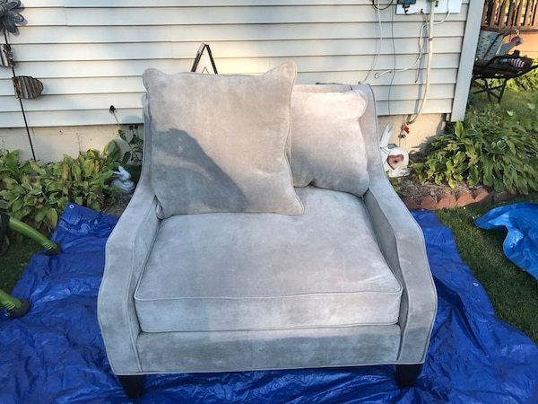 Gray Z Gallerie over sized chair