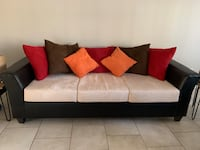Carefully used sofa! Two pieces! Comes with pillows  Houston