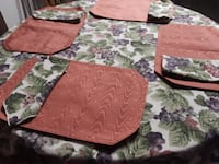 Round Table Cloth,  (6) Placemats, and  Matching  (6) Napkins Nashville
