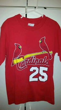St Louis Cardinals Majestic McGuire youth small T-shirt