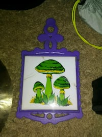 purple and green wooden wall decor Sterling, 20165