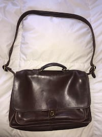 Men's leather coach brown leather briefcase  Washington, 20001