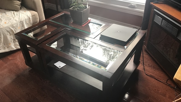 Glass coffee table $100.00