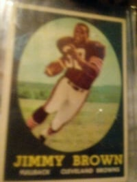This is a football card of jimmy brown.  Hall of l Fort Worth, 76111