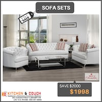 Canadian made 3pc sofa set   is now at lowest price in Brampton, and get  choice of color  Brampton