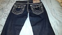 bleu True Religion denim bottoms 34x30 neuf Montreal, H1M 2Y7