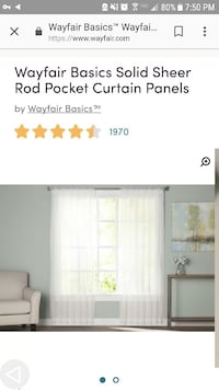 "Ivory 118""×95"" Curtains (5 sets, so 10 panels)"