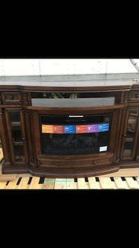 brown wooden framed electric fireplace Sunbury, 17801