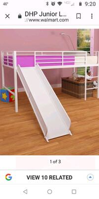 Junior loft bed with slide Rochester, 14616
