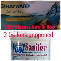 Pool cleaner new in box & 2 gallons Sanitizer Burton, 48509