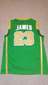 LeBron James Irish high school basketball jersey Lakewood