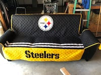 Black Couch w/ Steelers blanket Burgettstown, 15021